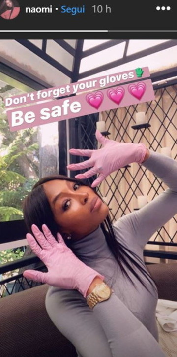 """Naomi e la paura del coronavirus: """"Non dimenticate i guanti"""""""