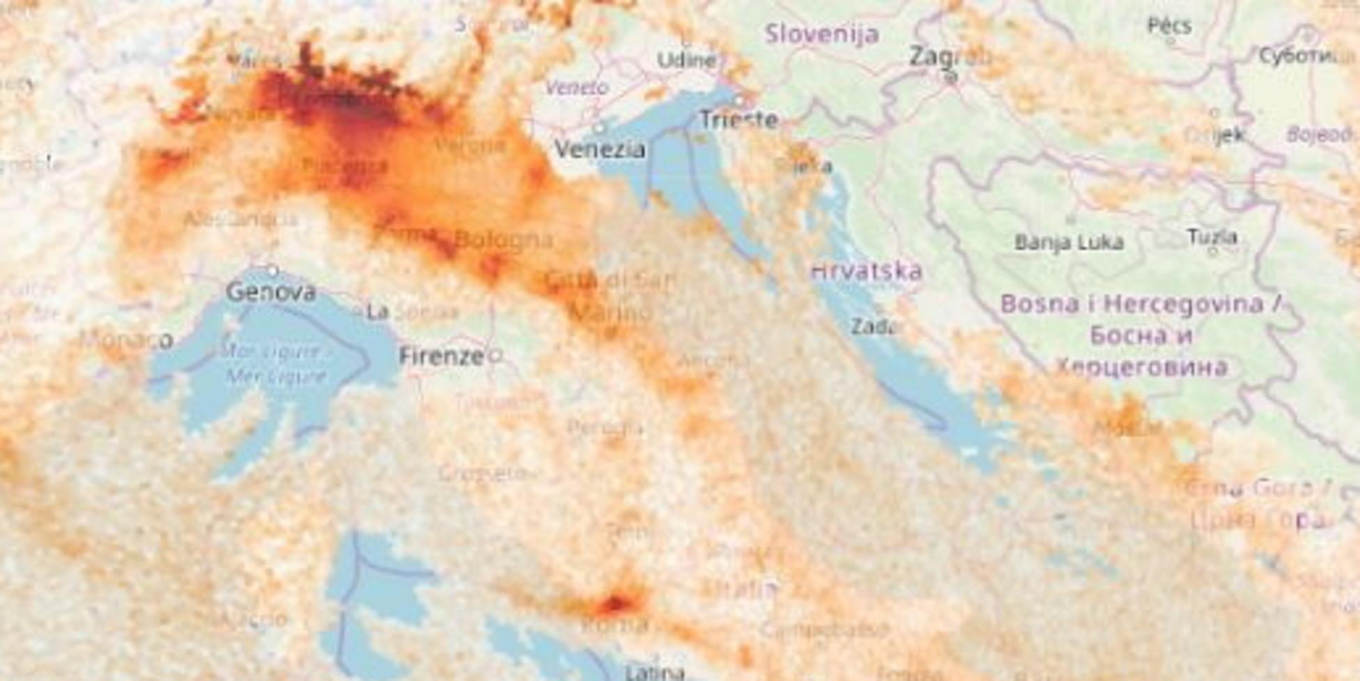 Coronavirus, in un mese calato lo smog sul Nord Italia per via delle restrizioni