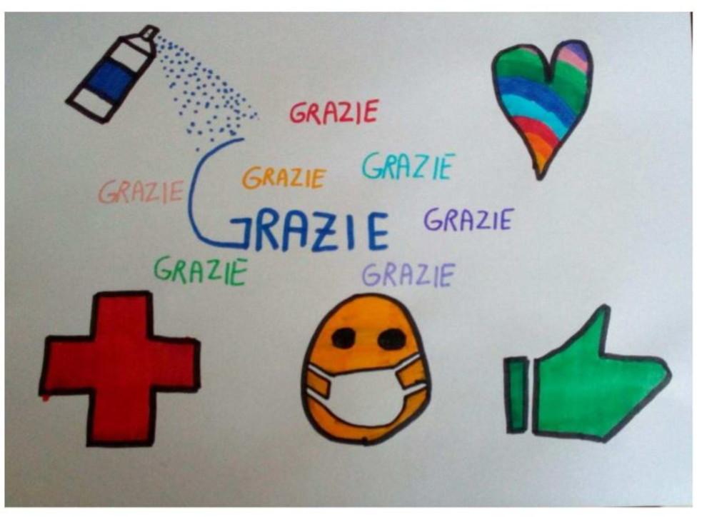 "Coronavirus, lo slogan dei bambini: ""Andrà bene"""