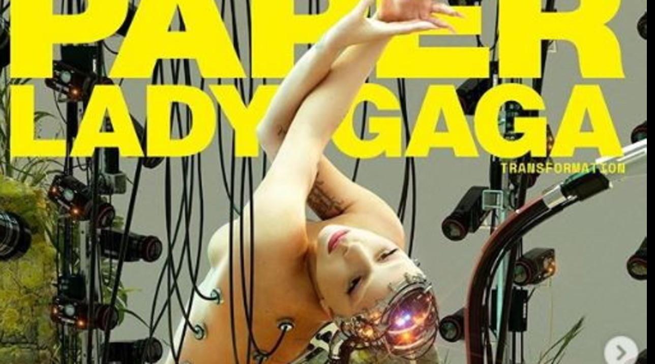 Lady Gaga, metà androide e metà umana (nuda) su Paper Magazine