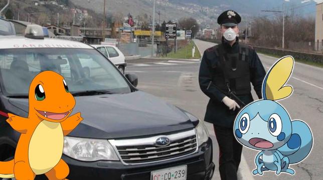 Coronavirus: 31enne di Como beccato dai carabinieri a caccia di Pokémon