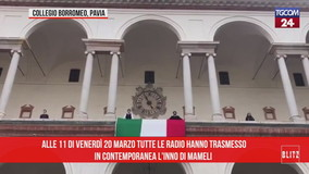 Tutte le radio trasmettono l'Inno e l'Italia canta