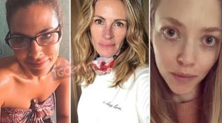 Da Julia Roberts a Jessica Alba: le star senza trucco in quarantena