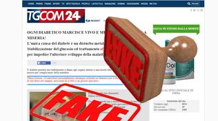Online un altro falso Tgcom24: scovato un sito per la cura del diabete