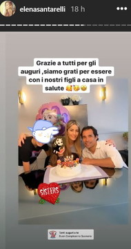 Elena Santarelli festeggia Greta: torta casalinga in famiglia