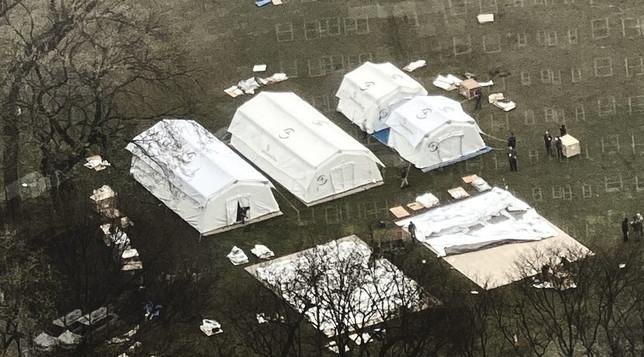 New York prepara un ospedale da campo a Central Park | Gallery