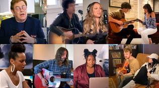 Da Dave Grohl a Billie Eilish: dal salotto di casa le stelle del pop aiutano i medici americani