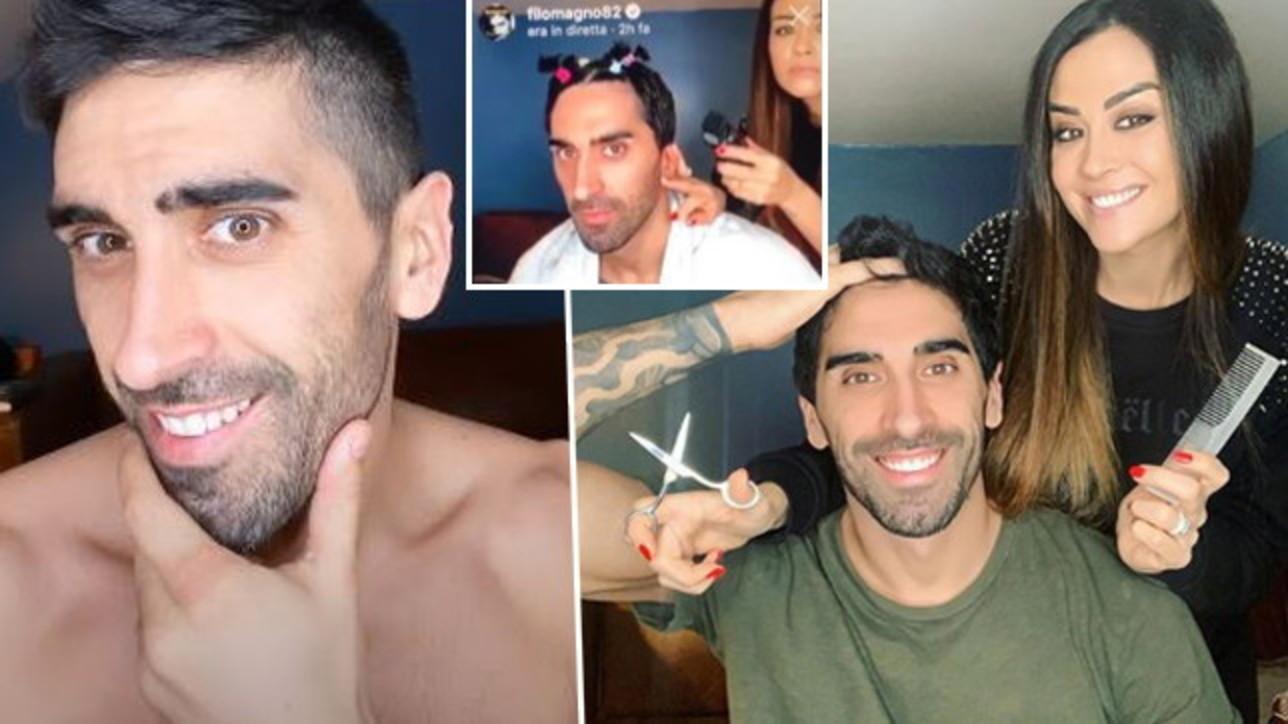 Giorgia Palmas è il barbiere a domicilio di Filippo Magnini