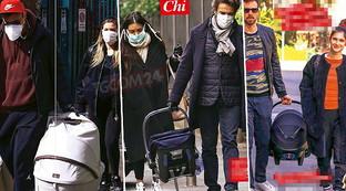 Tornano a casa i baby di Bobo Vieri, Alessio Boni e Lodovica Comello
