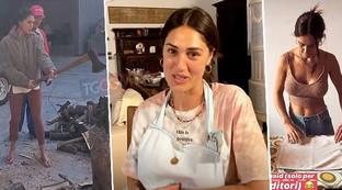 Cecilia Rodriguez massaia tra i monti con i Moser