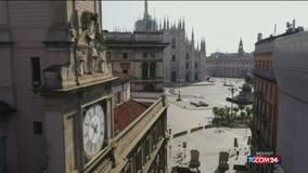 Milano vista dall'alto nei giorni dell'emergenza coronavirus