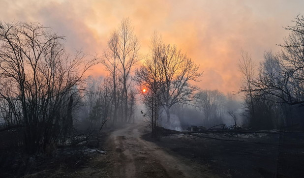Vasto incendio a Chernobyl: radiottività in aumento | Fotogallery