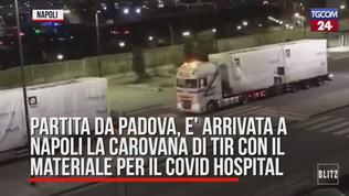 A Napoli tifo da stadio per il nuovo ospedale
