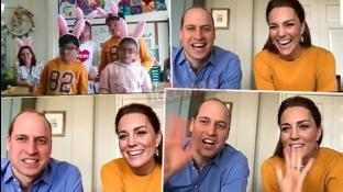 William e Kate al primo impegno ufficiale in videochiamata