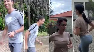 CR7 e Georgina in Portogallo, guarda che allenamenti di coppia