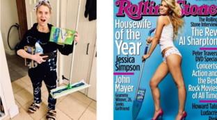 """Jessica Simpson... """"casalinga del giorno"""" ieri e oggi"""