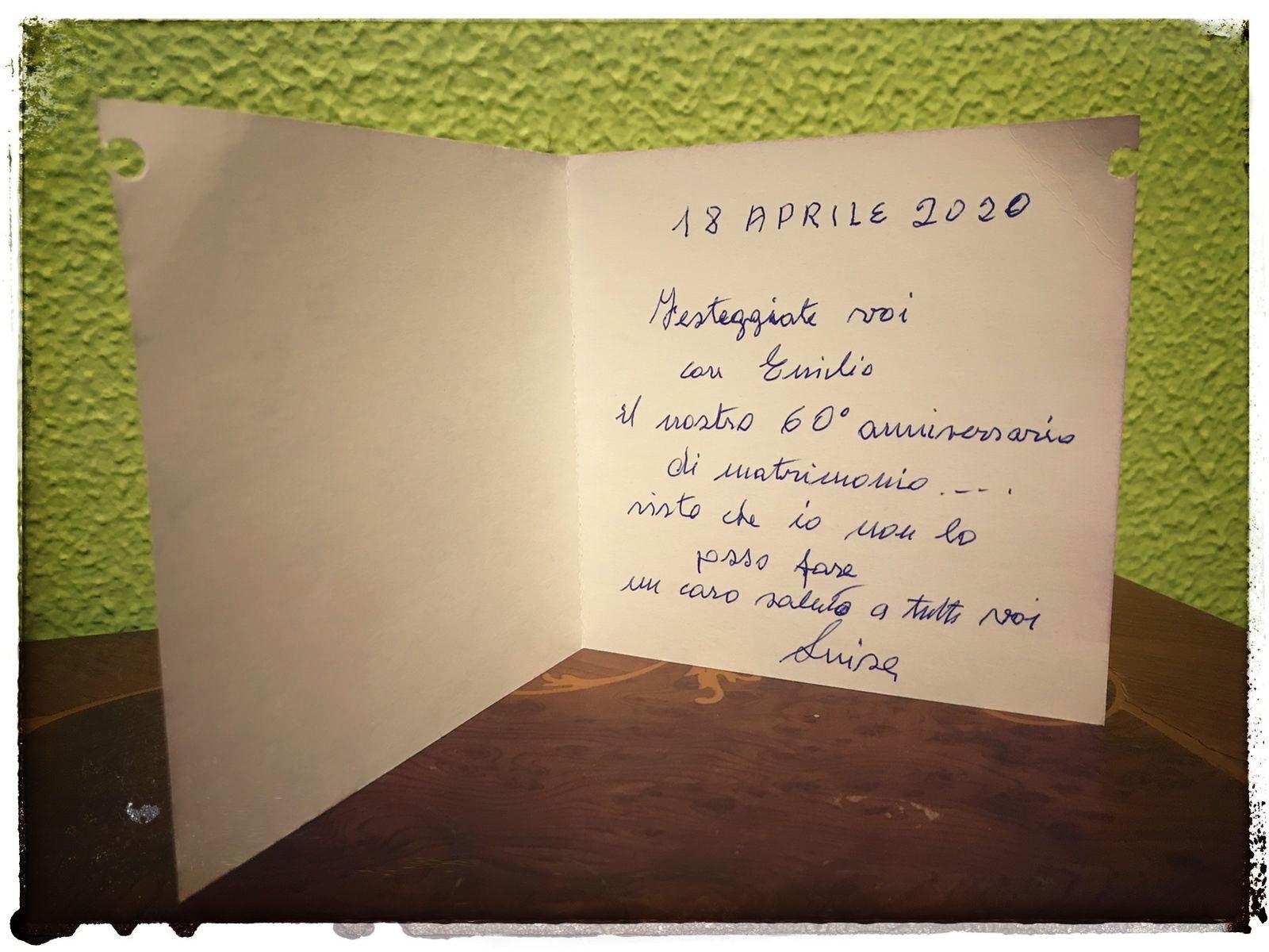 Anniversario Di Matrimonio Lombardia.Non Possono Trascorrere Il 60esimo Anniversario Insieme Il