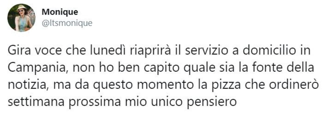 Coronavirus, a Napoli e in tutta la Campania da lunedì torna la pizza (per ora solo a domicilio): le reazioni social