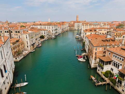 Venezia durante il lockdown, le immagini riprese dall'alto