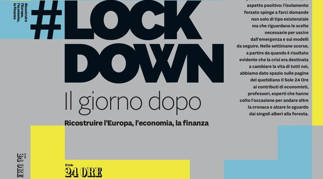 #Lockdown, un'antologia di contributi per ricostruire dopo la Pandemia