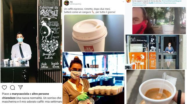 La Fase 2 degli italiani parte dal caffè da asporto: il rito condiviso sui social