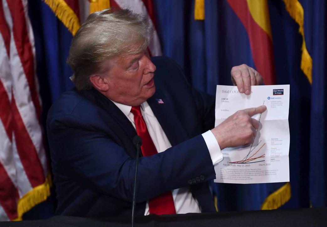 Usa, Trump visita fabbrica di mascherine... senza mascherina