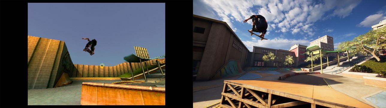 Tony Hawk's Pro Skater 1+2 Remastered, il confronto con i capitoli originali su PlayStation