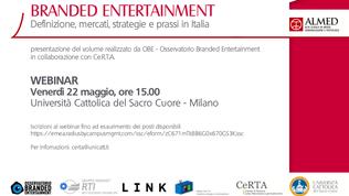 OBE e Ce.R.T.A presentano il primo Libro Bianco sul Branded Entertainment, edito da RTI
