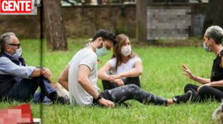 Maria Elena Boschi e Giulio Berruti, pomeriggio al parco con i genitori