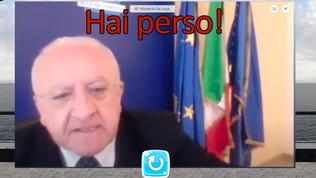 Vincenzo De Luca affronta gli avversari… in un videogioco