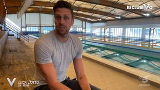 """A """"Verissimo"""" il messaggio del nuotatore Luca Dotto dalla Fase 2: """"Tornare in vasca una sensazione bellissima"""""""