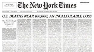 Coronavirus, il New York Times pubblica i nomi di mille vittime in prima pagina
