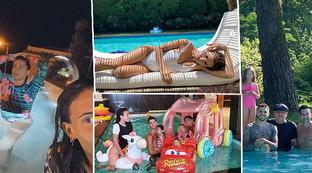 Weekend di libertà, le vip si spogliano… in piscina