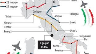 L'Italia delle Frecce Tricolori: tutti i voli in programma
