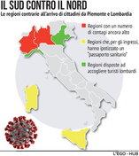 Spostamenti tra Regioni, favorevoli e contrari