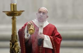 Celebrazione di Pentecoste, Papa Francesco:uniti contro tutte pandemie, virus, fame, guerre
