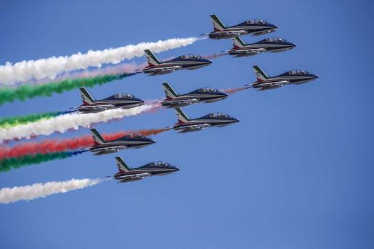 2 Giugno, le Frecce Tricolori nel cielo di Roma
