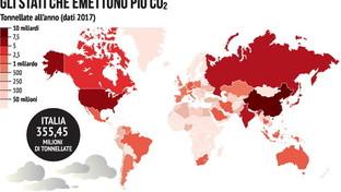 Giornata mondiale dell'Ambiente, ecco i Paesi che inquinano di più