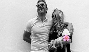 Cristina Marino e Luca Argentero, primo scatto di famiglia
