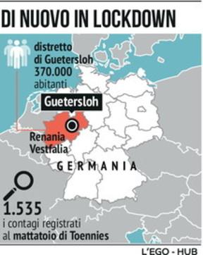Focolaio di Covid-19 nel mattatoio, nuovo lockdown in Germania