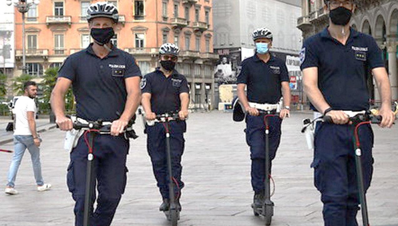 Effetto coronavirus, a Milano arrivano i vigili in monopattino per controllare piste ciclabili e aree pedonali
