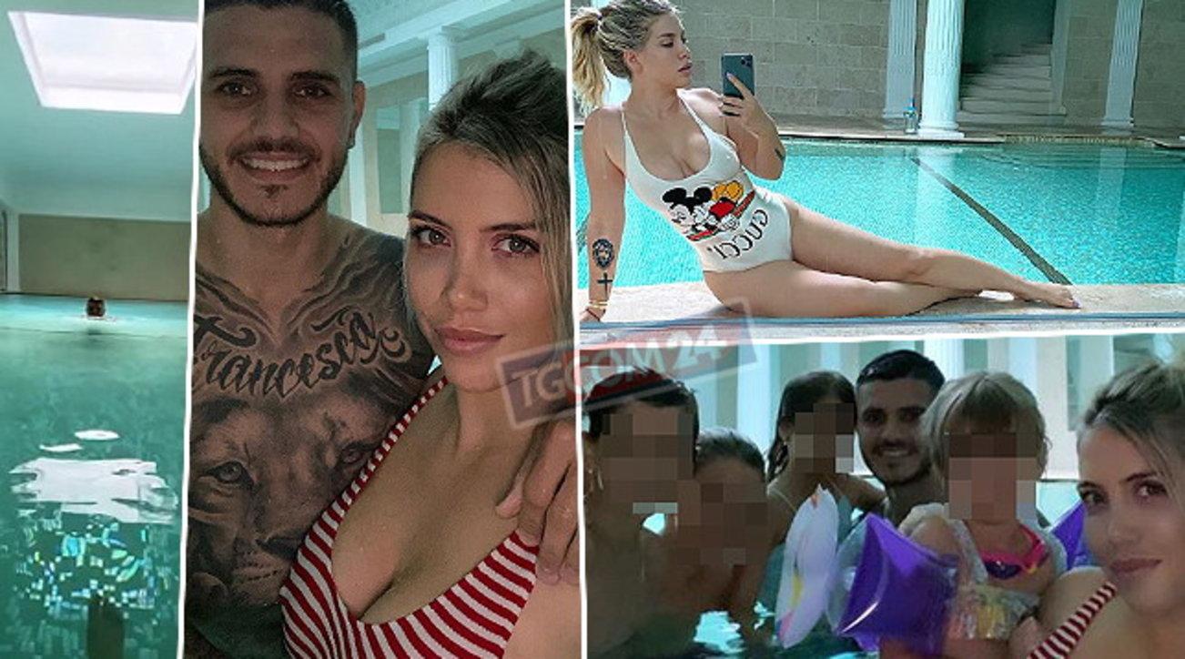 Wanda Nara e Mauro Icardi, un'estate in casa con una piscina da campioni