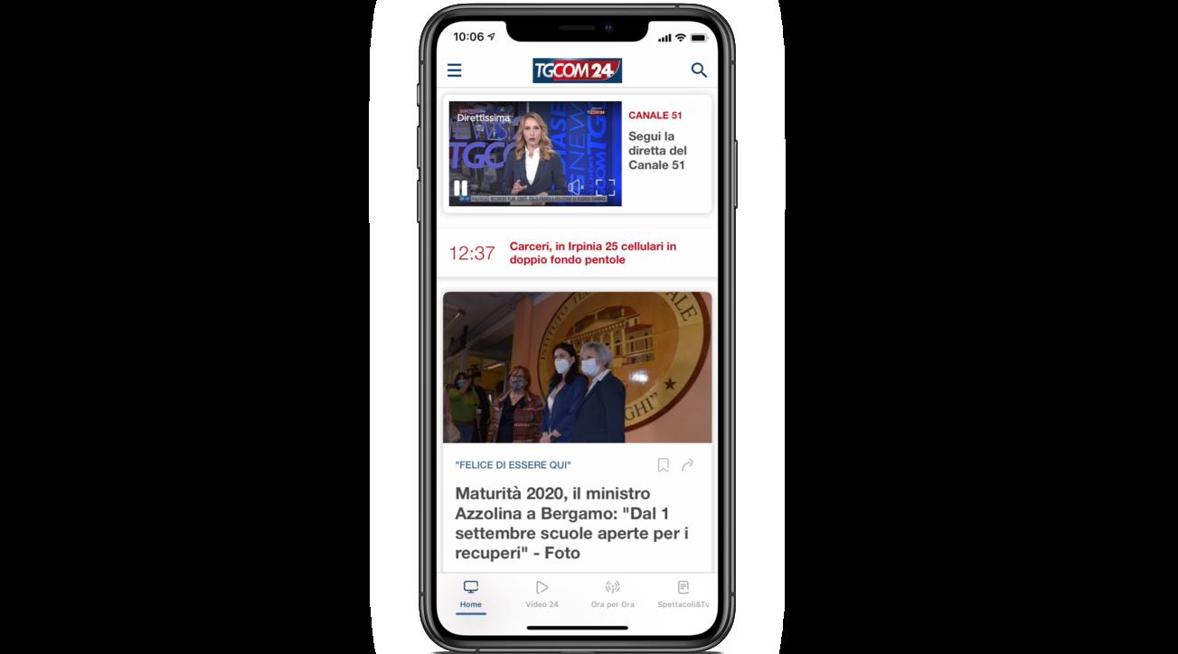La nuova app di Tgcom24