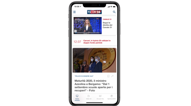 Nuova app di Tgcom24: un sistema multimediale con più video, news e podcast