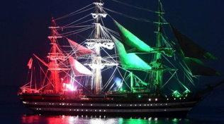 """La """"Amerigo Vespucci"""", la nave più bella del mondo, ritorna in mare"""