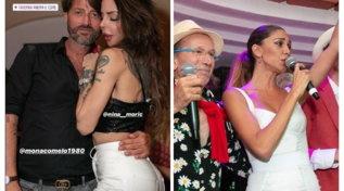 Belen e Nina Moric a Capri, abbracci tra ex rivali