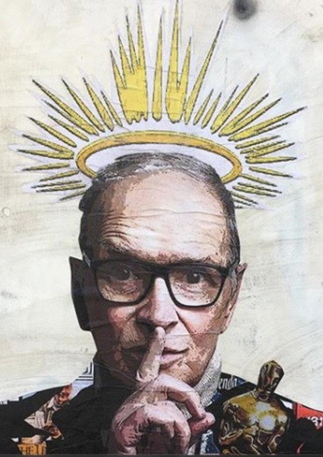 Addio a Morricone, l'omaggio in un murale nella sua Trastevere | Il Maestro:
