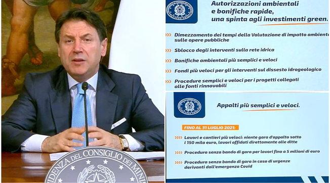 Dl Semplificazioni, Conte: