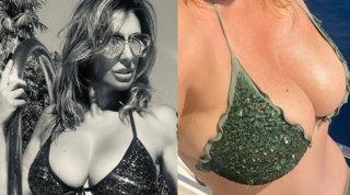 Costumi e décolleté: la calda estate di Sabrina Salerno