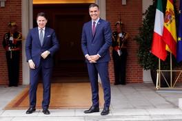 Madrid, incontro tra Giuseppe Conte e il premier spagnolo Pedro Sanchez